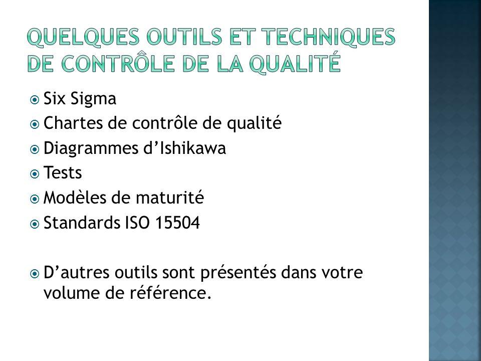 Quelques outils et techniques de contrôle de la qualité