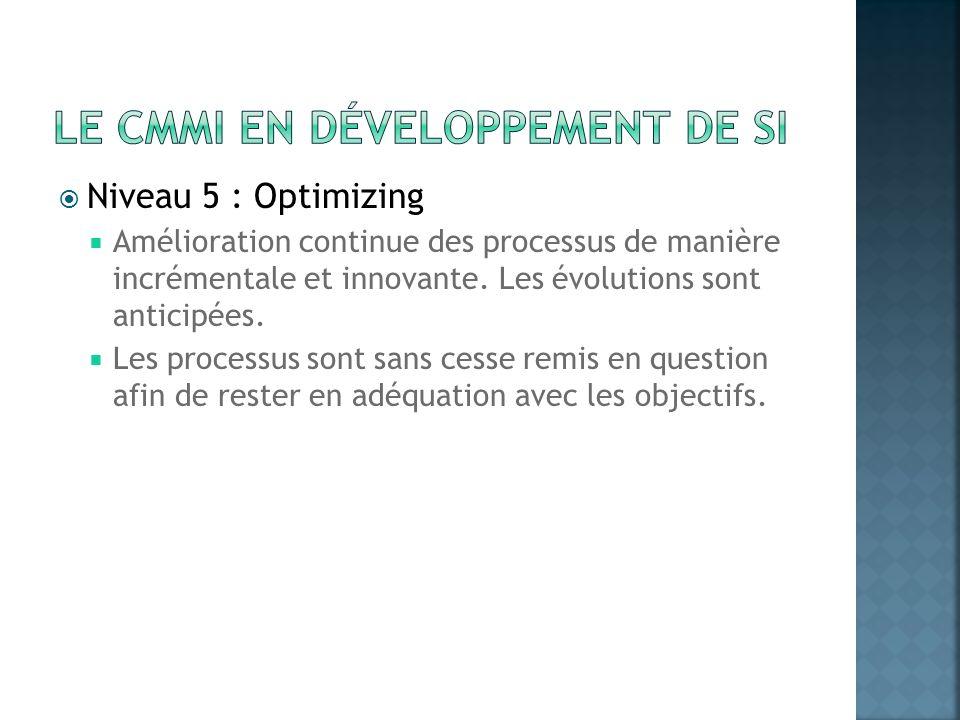 Le CMMI en développement de SI