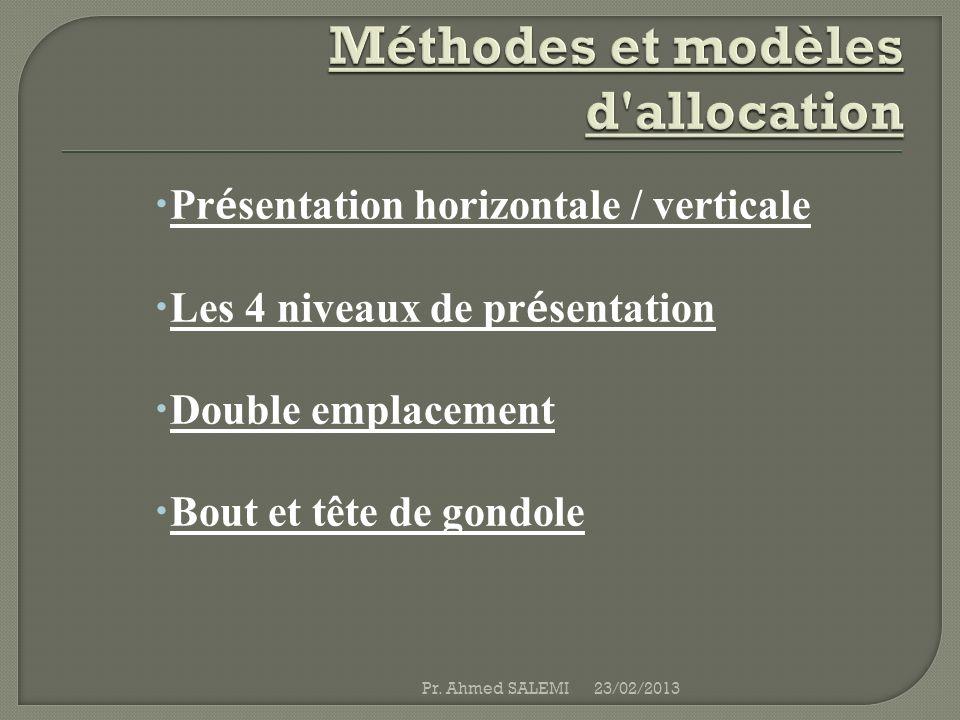 Méthodes et modèles d allocation