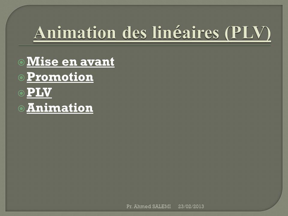 Animation des linéaires (PLV)