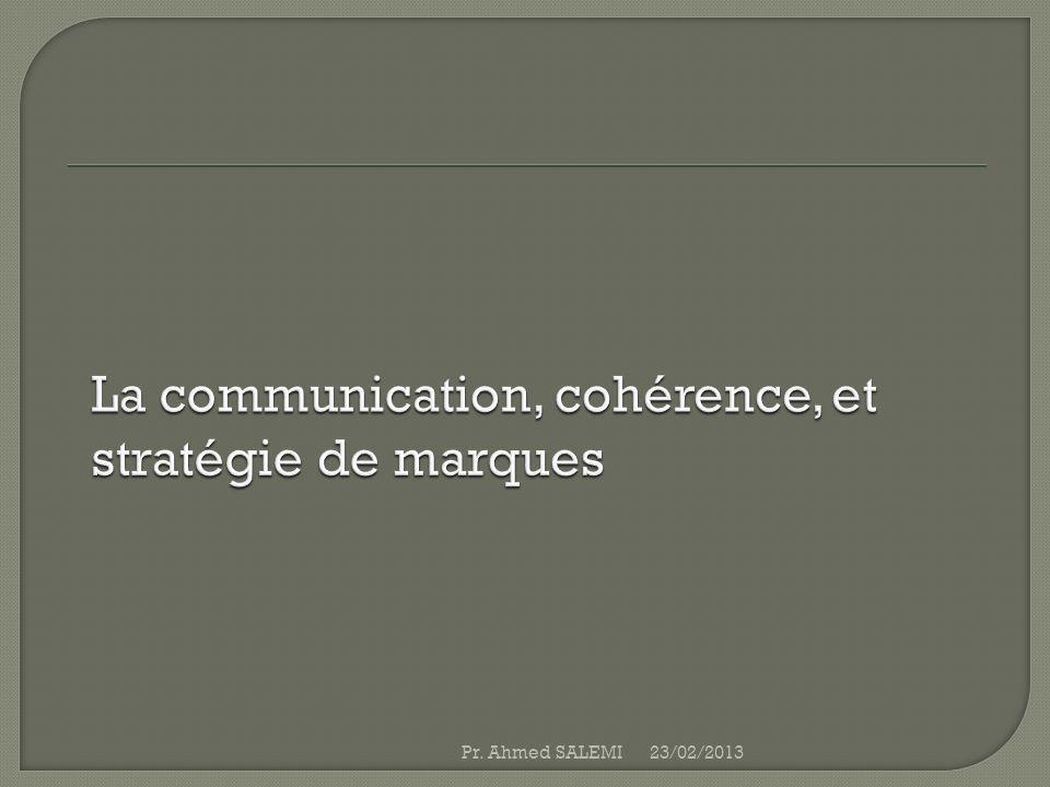 La communication, cohérence, et stratégie de marques