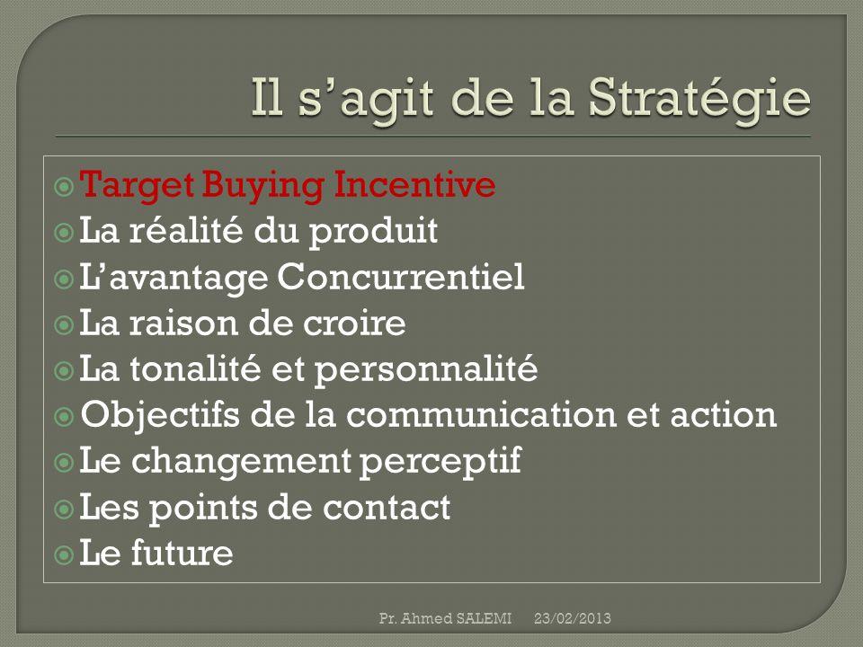 Il s'agit de la Stratégie