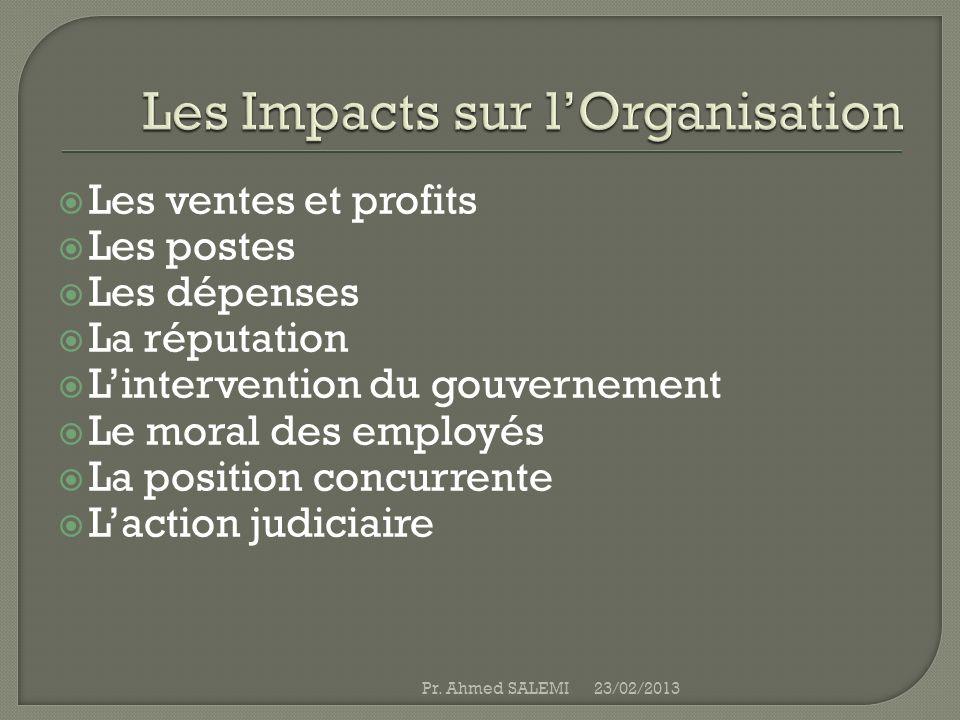 Les Impacts sur l'Organisation