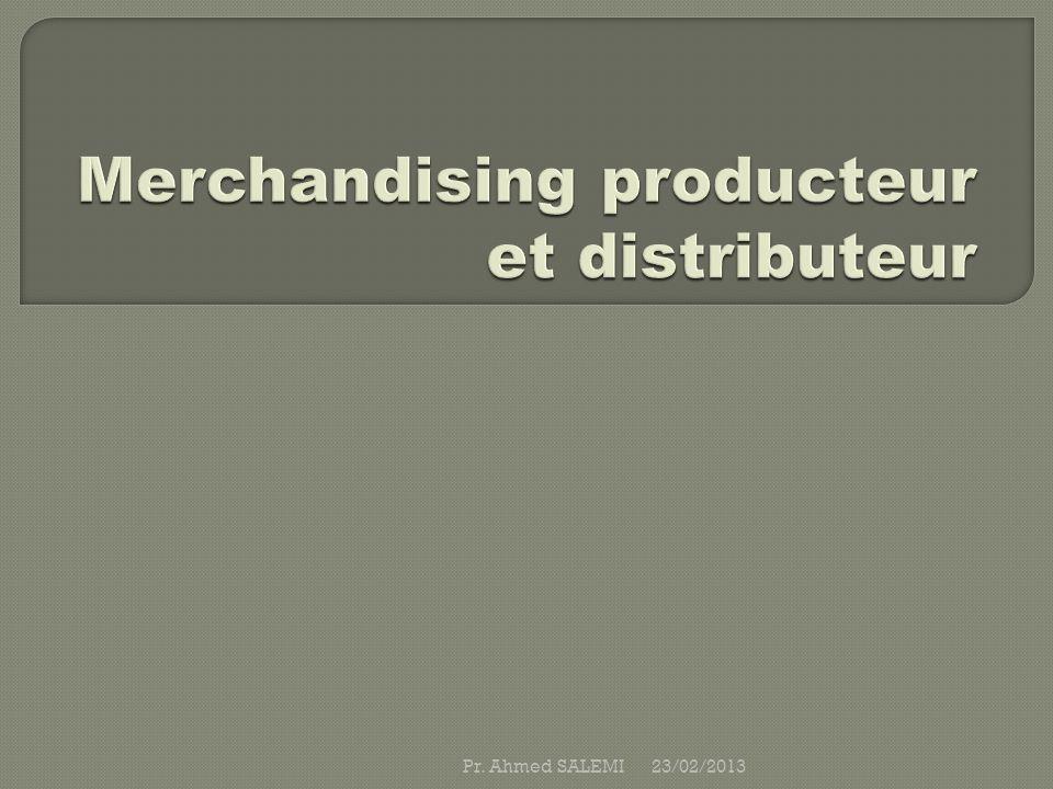 Merchandising producteur et distributeur
