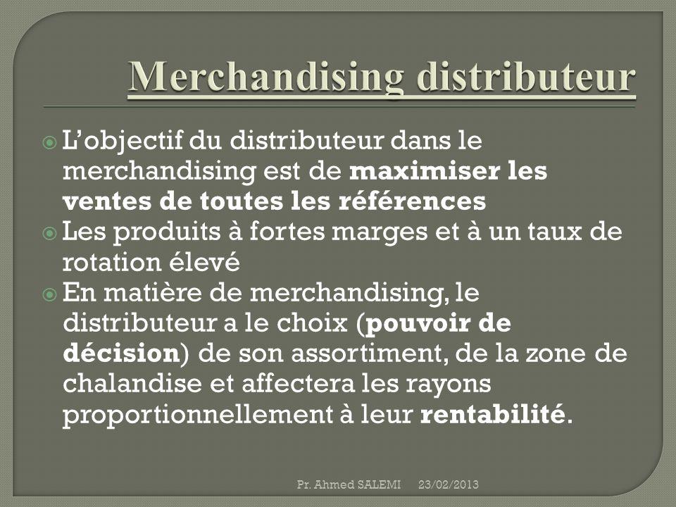 Merchandising distributeur