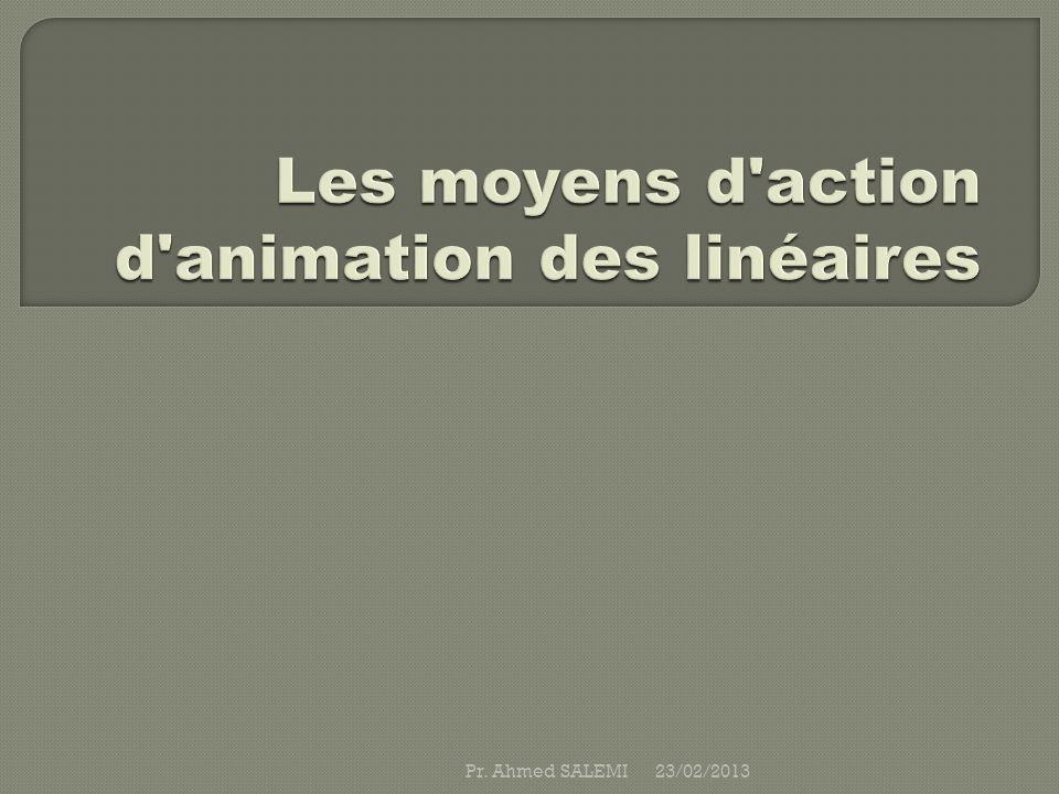 Les moyens d action d animation des linéaires