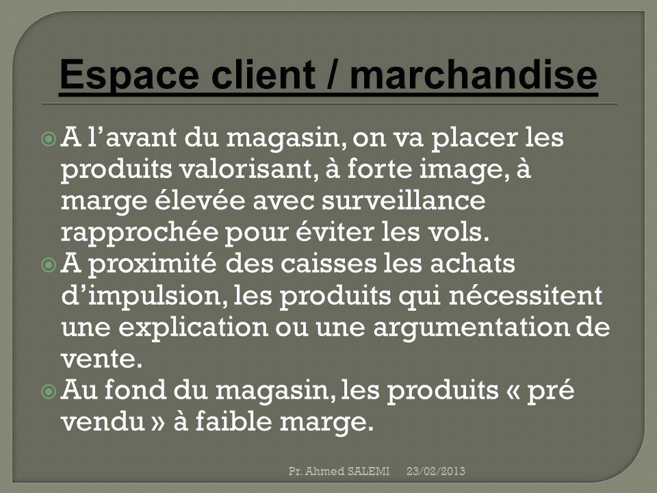 Espace client / marchandise