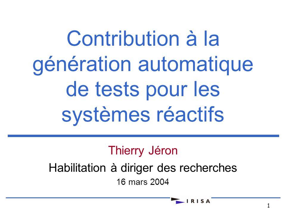 Thierry Jéron Habilitation à diriger des recherches 16 mars 2004