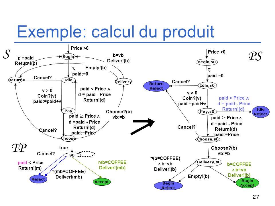 Exemple: calcul du produit