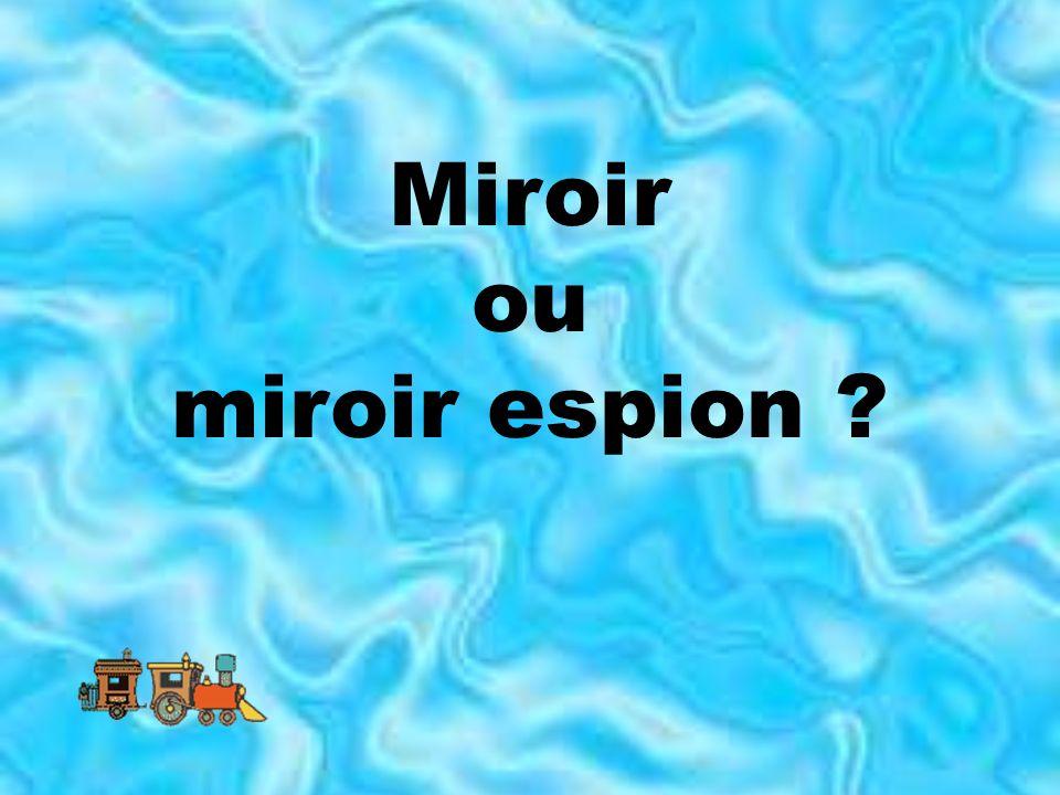 Miroir ou miroir espion
