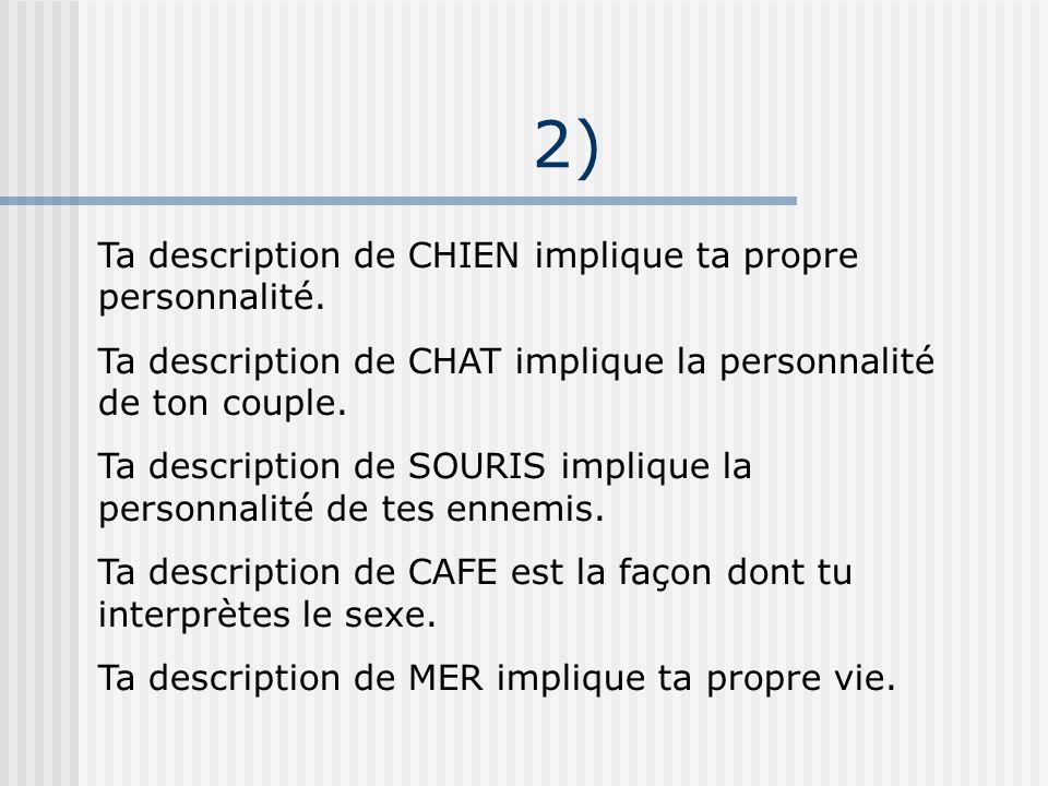 2) Ta description de CHIEN implique ta propre personnalité.