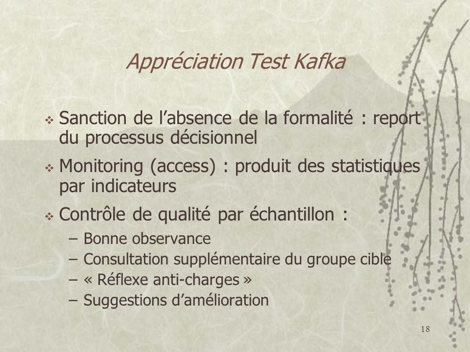 Appréciation Test Kafka