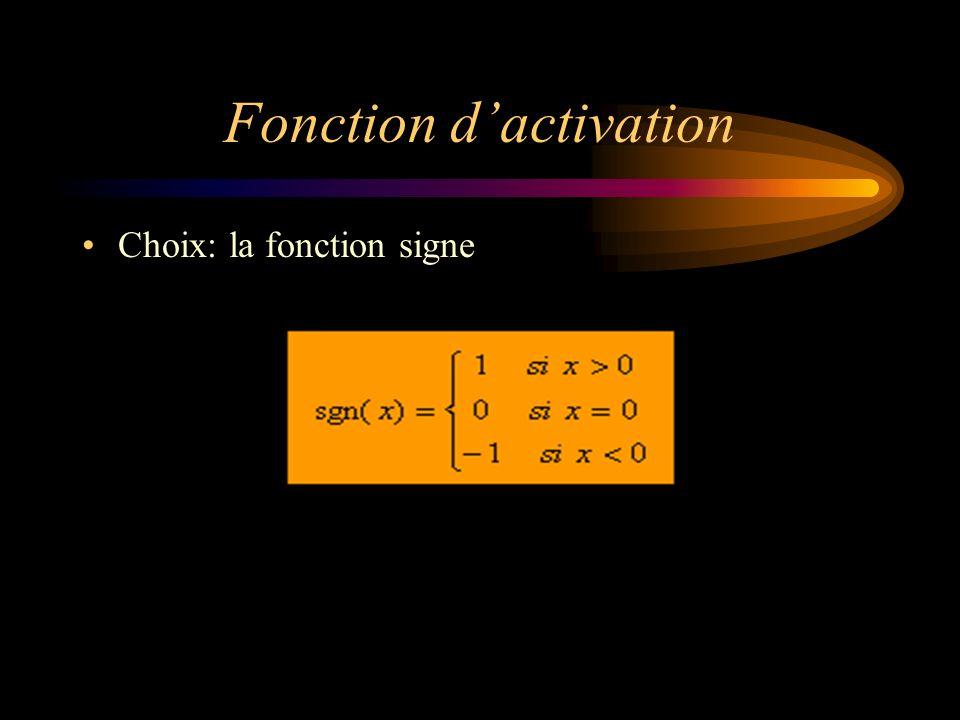 Fonction d'activation