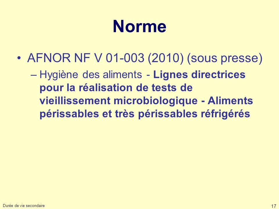 Norme AFNOR NF V 01-003 (2010) (sous presse)