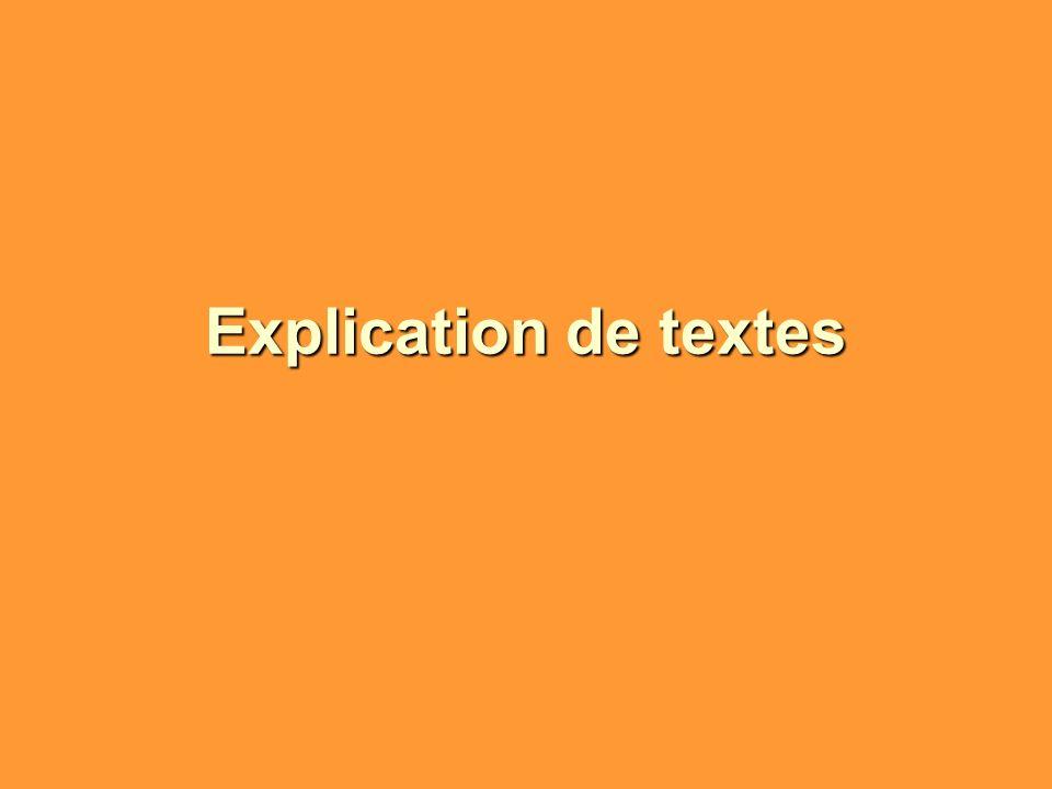 Explication de textes