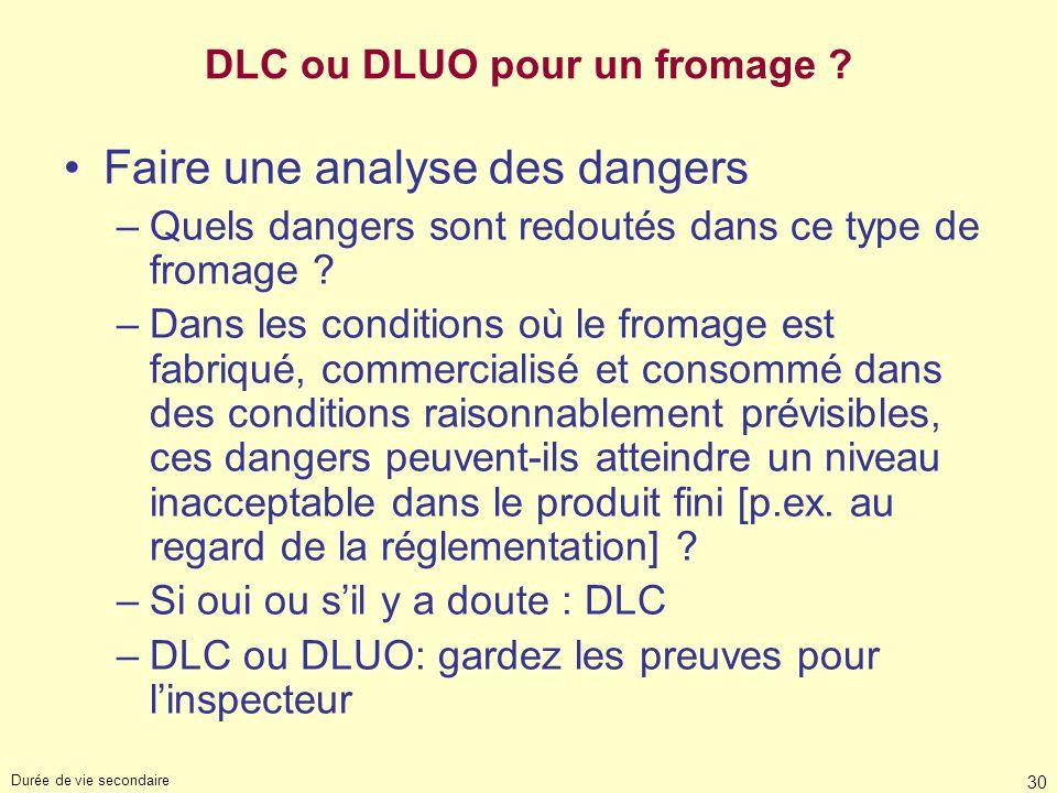 DLC ou DLUO pour un fromage