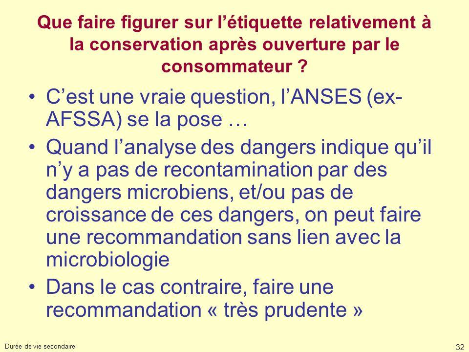 C'est une vraie question, l'ANSES (ex-AFSSA) se la pose …