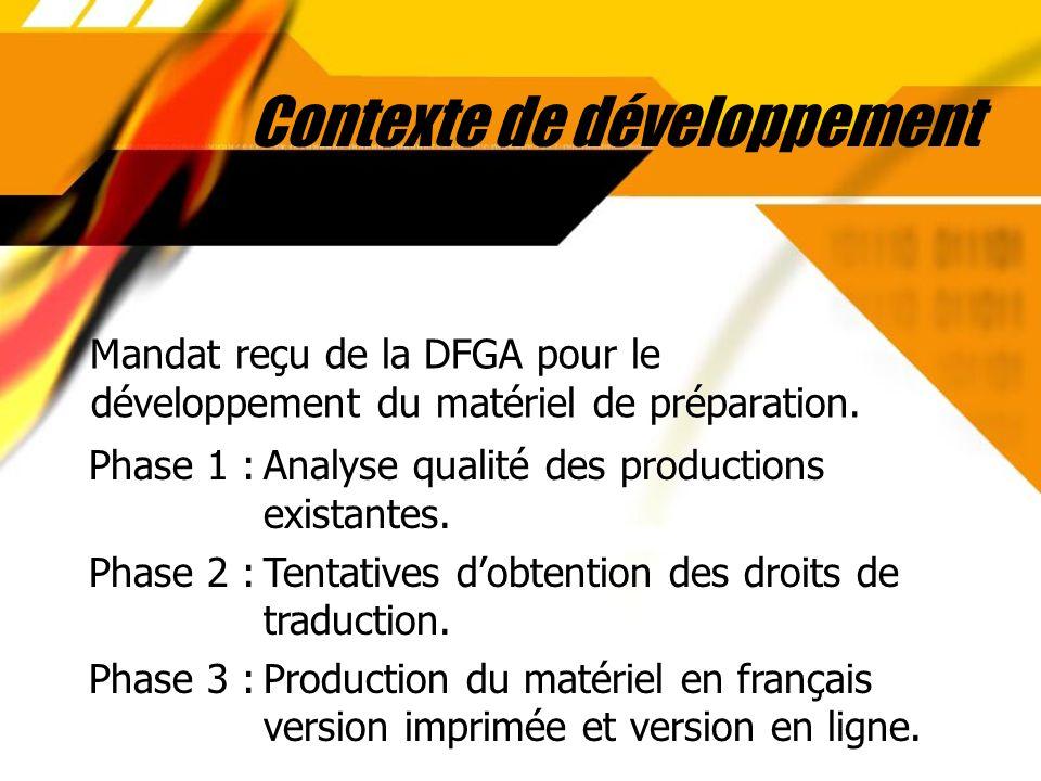 Contexte de développement