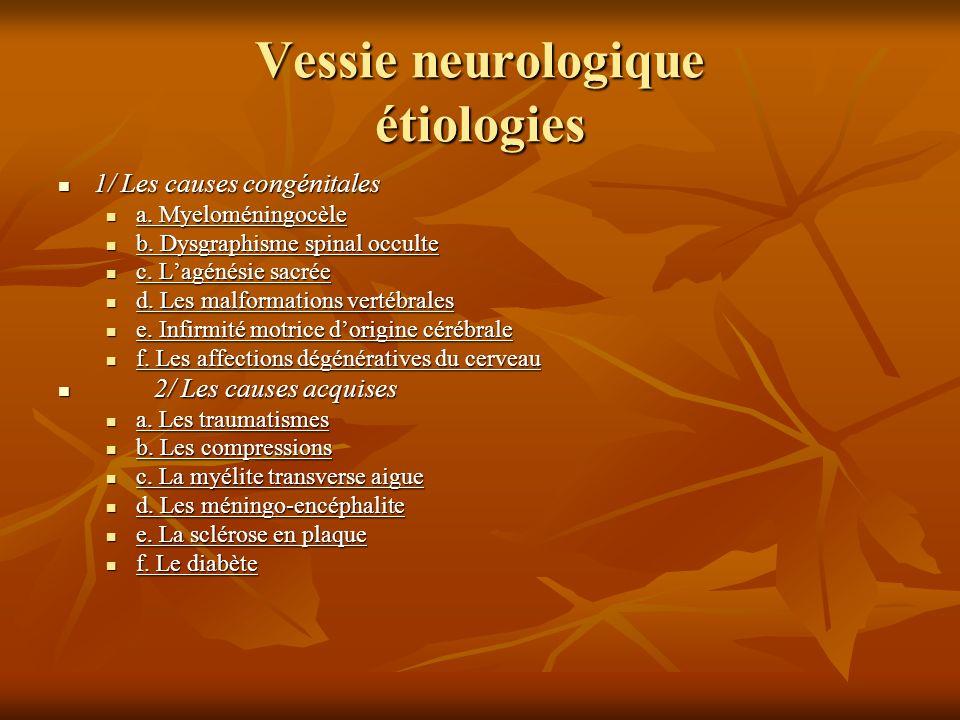 Vessie neurologique étiologies