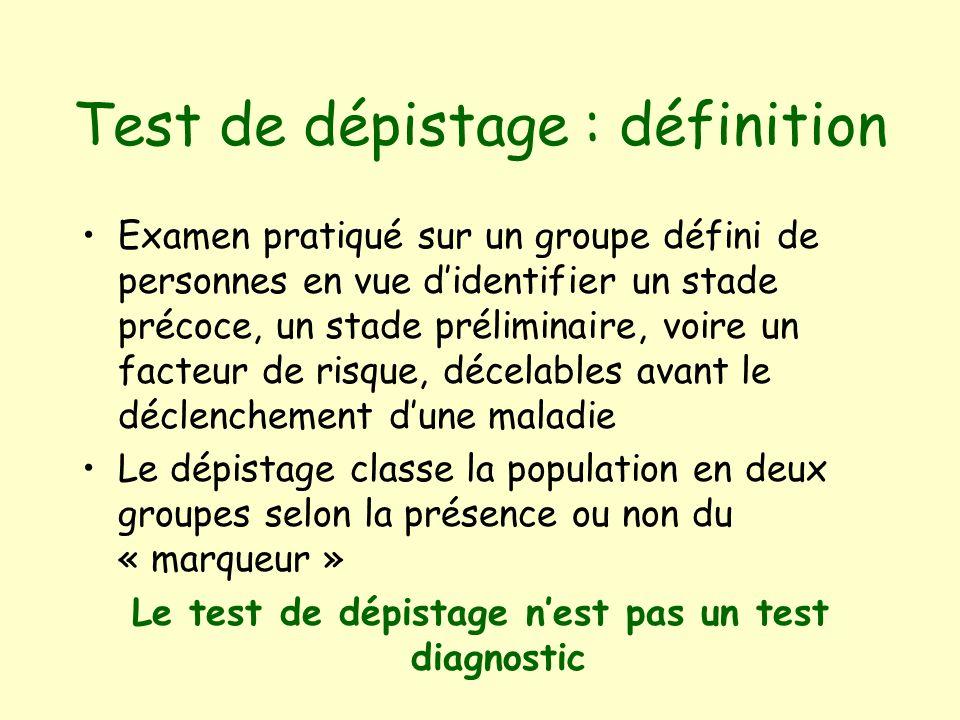 Test de dépistage : définition