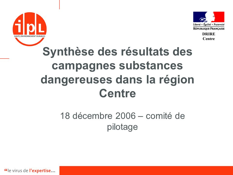 18 décembre 2006 – comité de pilotage