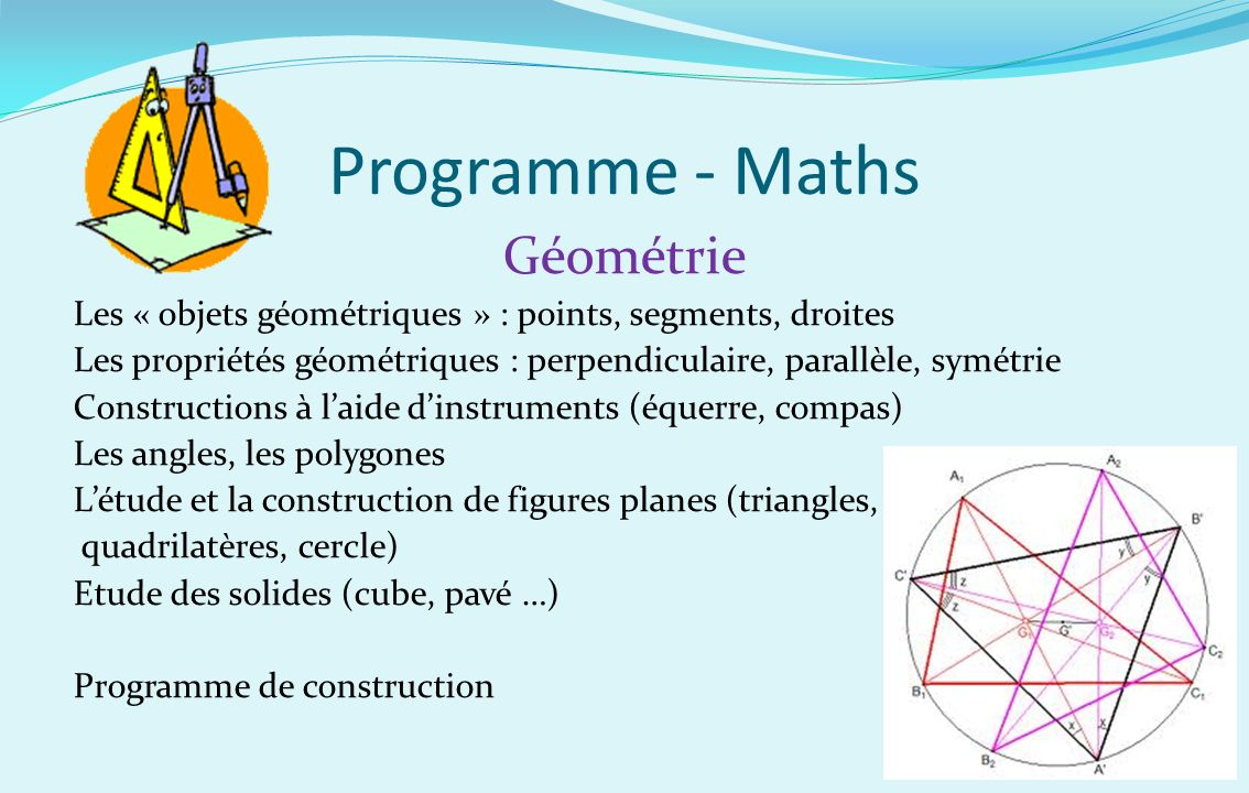 Programme - Maths Géométrie