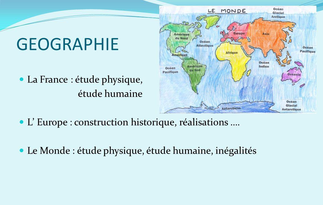 GEOGRAPHIE La France : étude physique, étude humaine