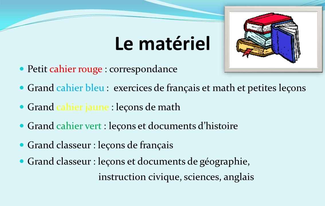 Le matériel Petit cahier rouge : correspondance