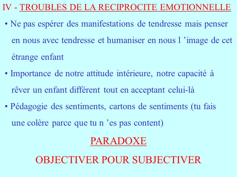 OBJECTIVER POUR SUBJECTIVER