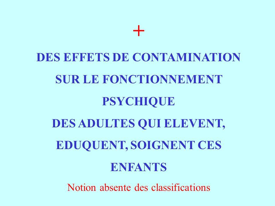 DES EFFETS DE CONTAMINATION DES ADULTES QUI ELEVENT,