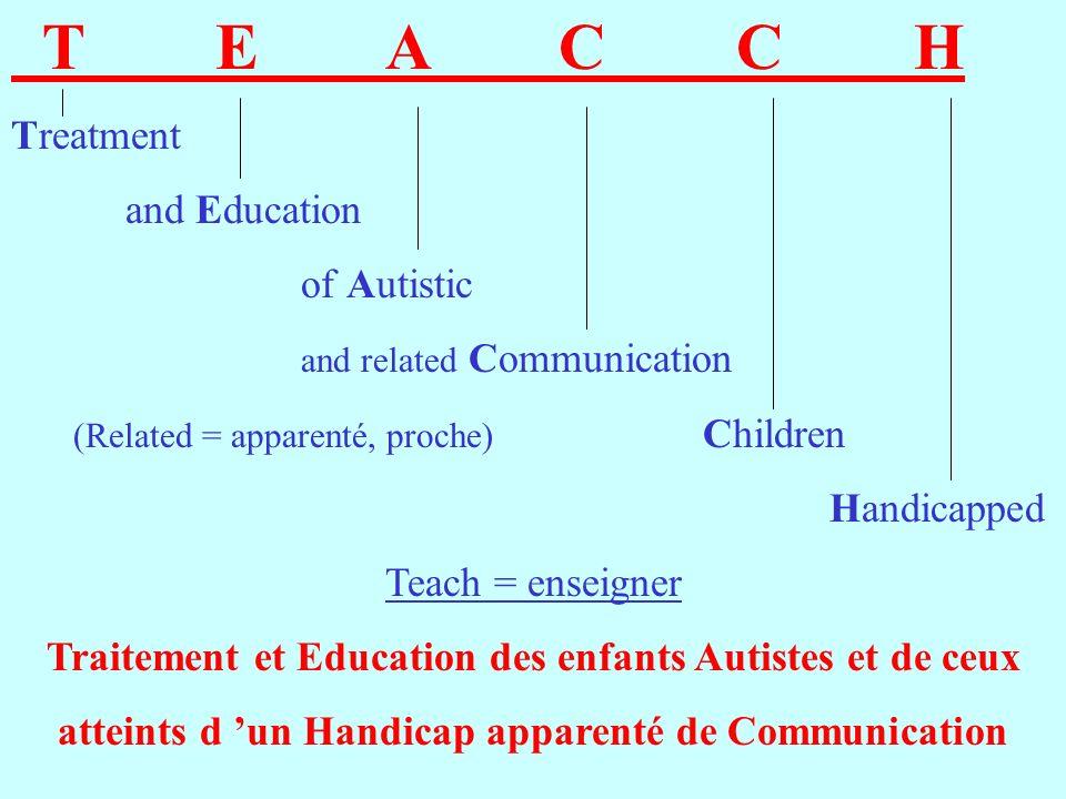 Traitement et Education des enfants Autistes et de ceux