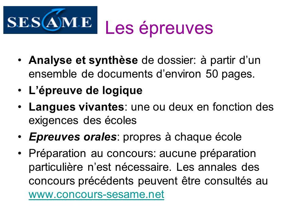 Les épreuves Analyse et synthèse de dossier: à partir d'un ensemble de documents d'environ 50 pages.