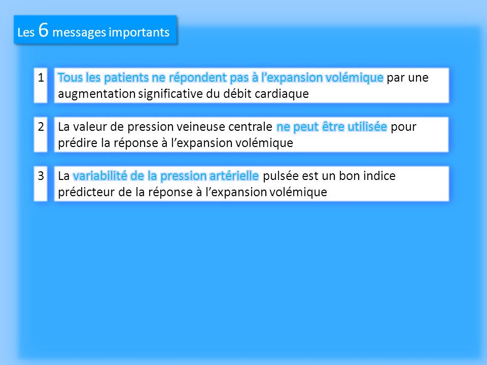 Les 6 messages importants