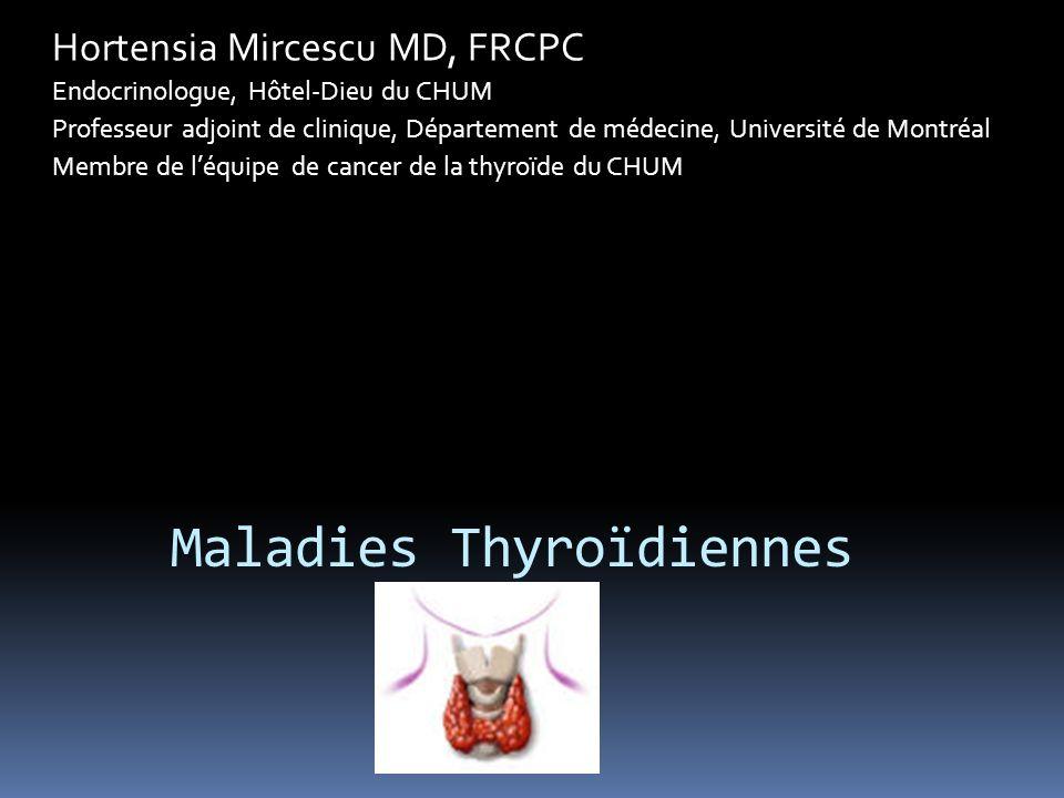 Maladies Thyroïdiennes