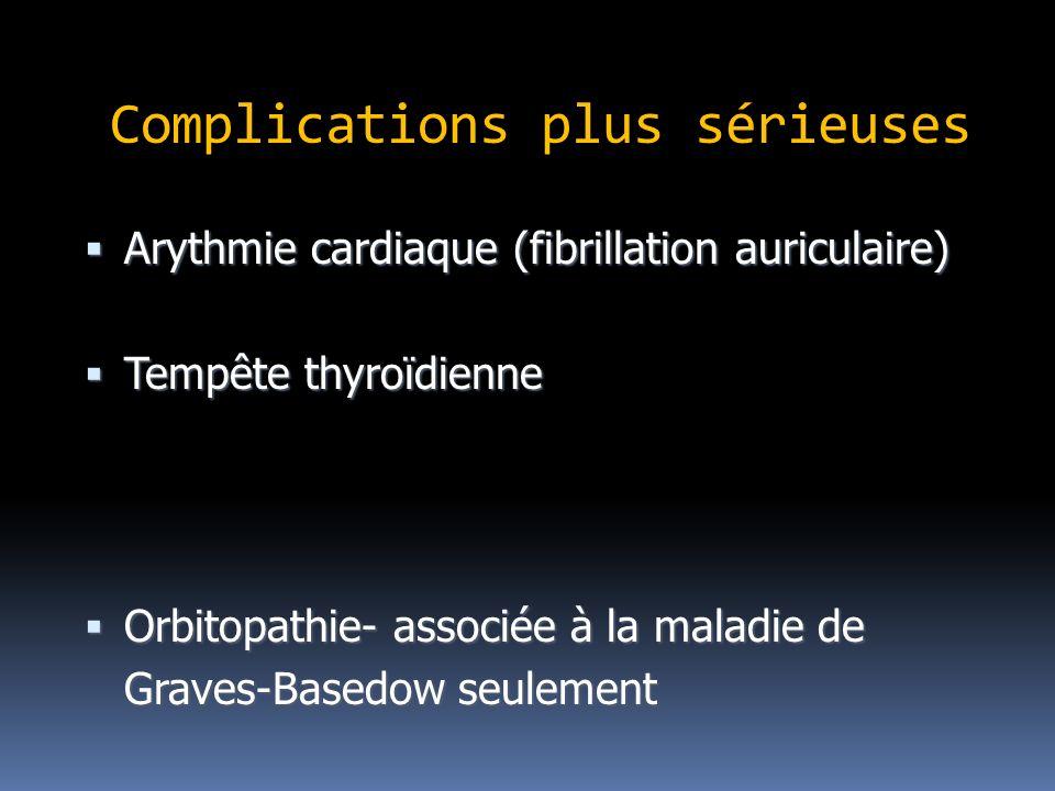 Complications plus sérieuses