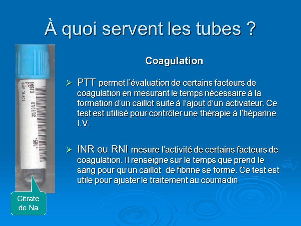 À quoi servent les tubes