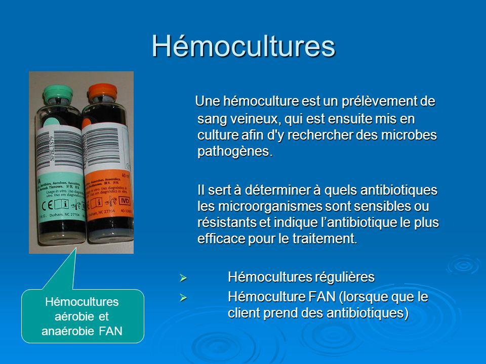 Hémocultures aérobie et anaérobie FAN