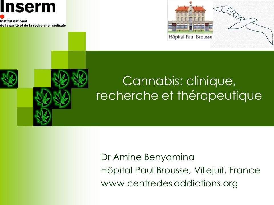 Cannabis: clinique, recherche et thérapeutique