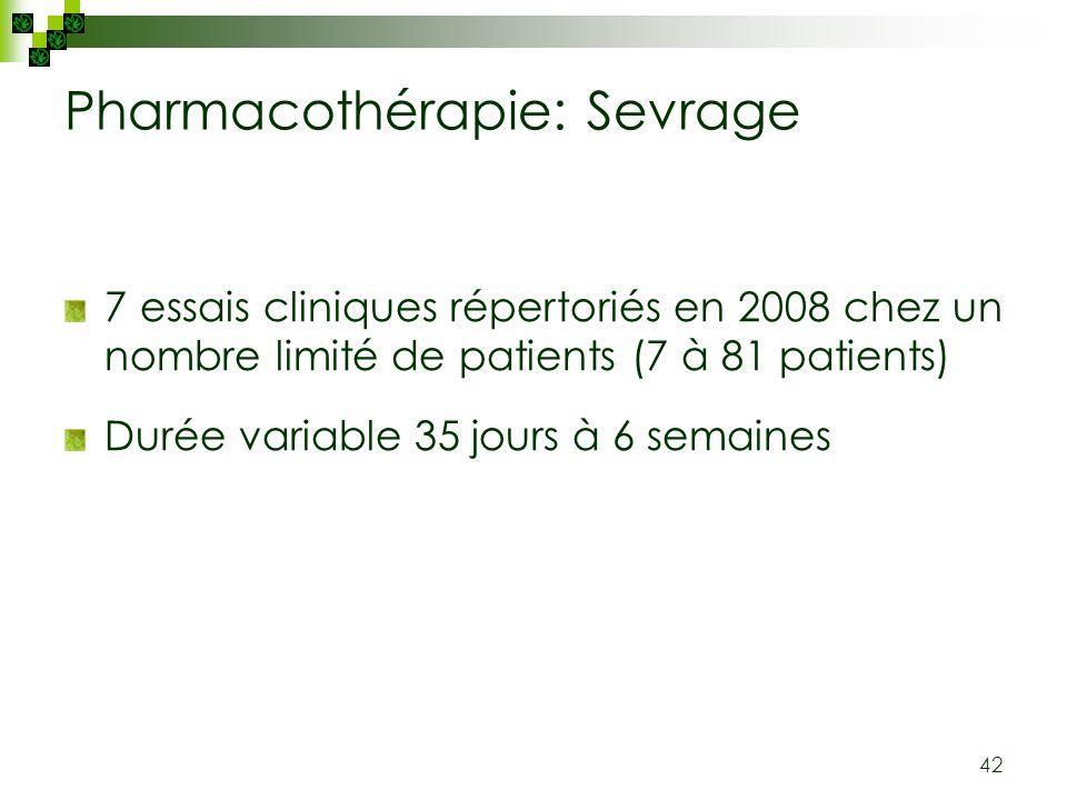 Pharmacothérapie: Sevrage