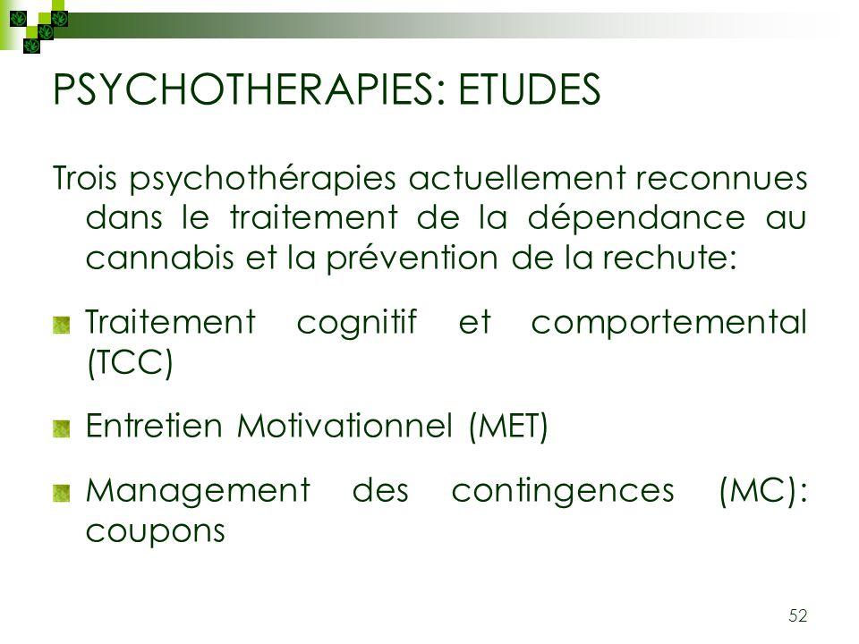 PSYCHOTHERAPIES: ETUDES