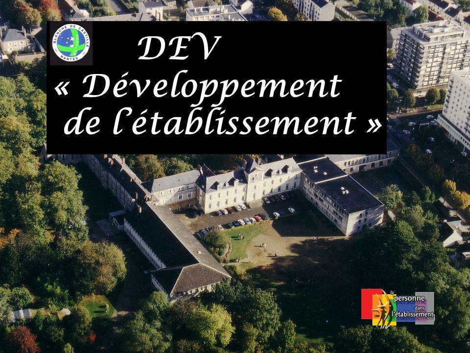 DEV « Développement de l'établissement »