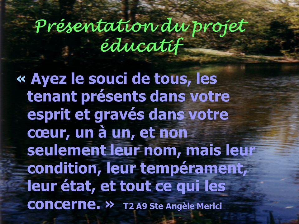 Présentation du projet éducatif