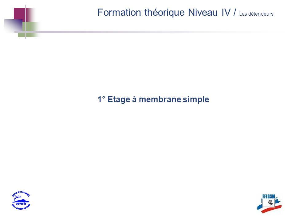 1° Etage à membrane simple