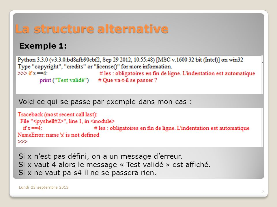 La structure alternative