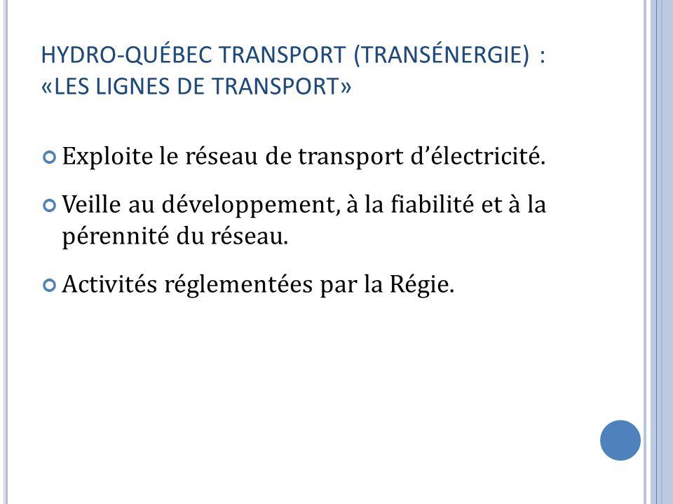 HYDRO-QUÉBEC TRANSPORT (TRANSÉNERGIE) : «LES LIGNES DE TRANSPORT»
