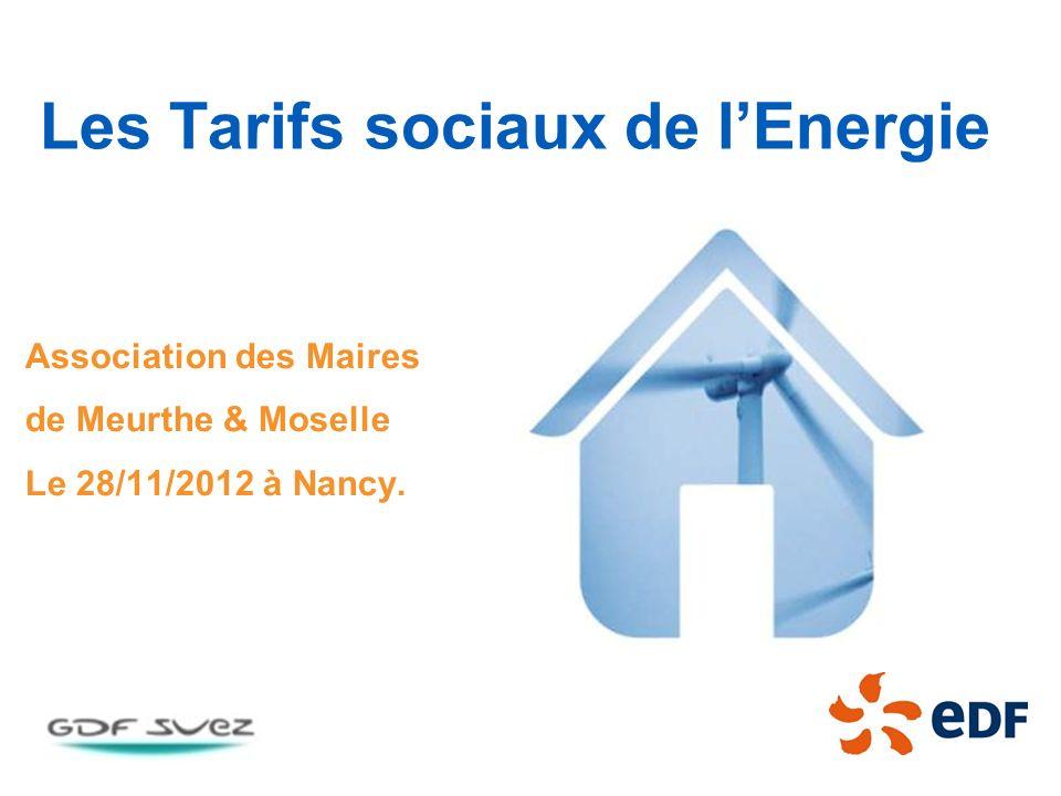 Les Tarifs sociaux de l'Energie
