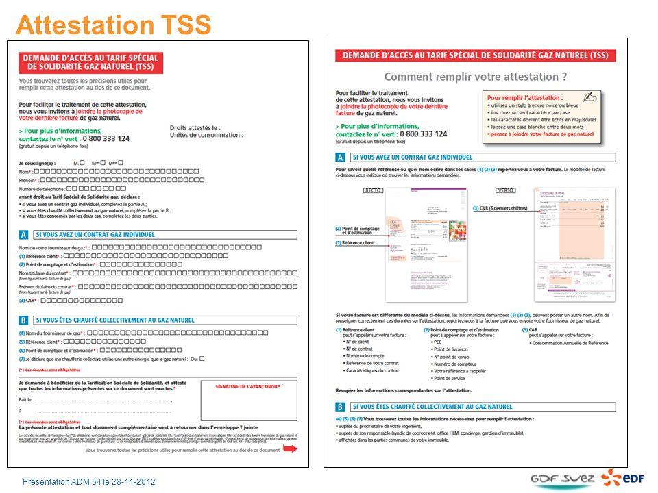 Attestation TSS Recto Verso Présentation ADM 54 le 28-11-2012