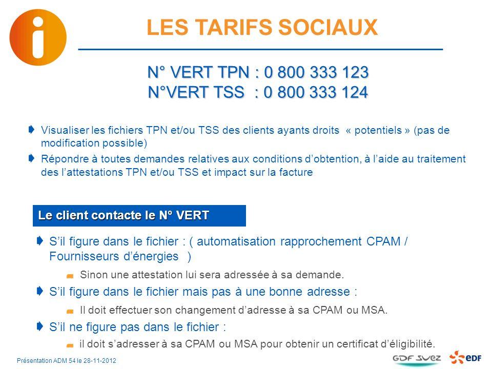 N° VERT TPN : 0 800 333 123 N°VERT TSS : 0 800 333 124