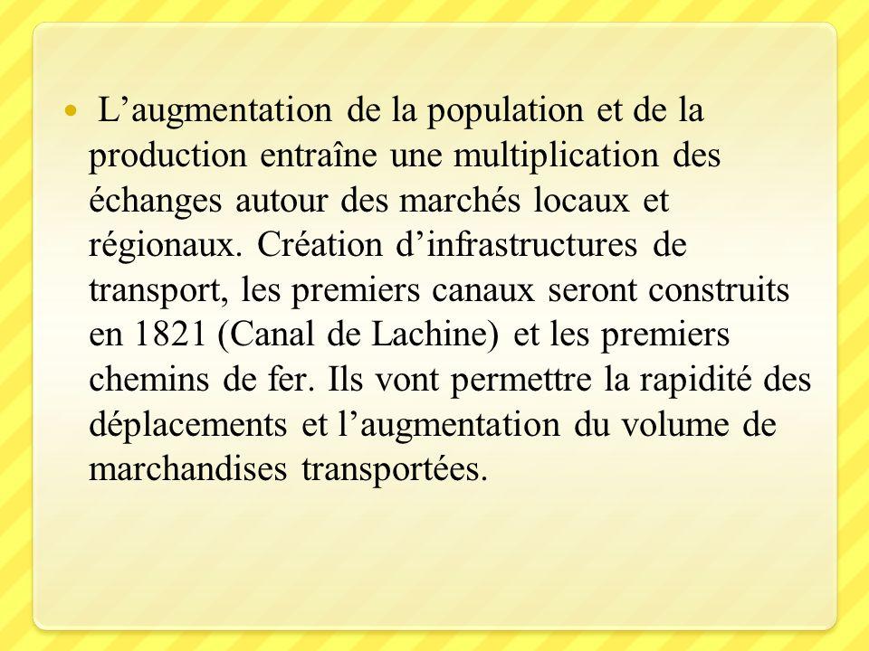 L'augmentation de la population et de la production entraîne une multiplication des échanges autour des marchés locaux et régionaux.