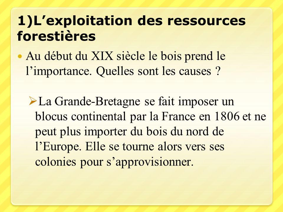 1)L'exploitation des ressources forestières